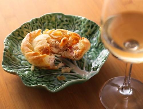 チキンパイ + グラスワイン